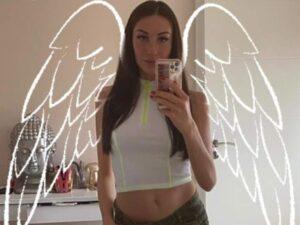 Alison-Grey Bauchfrei Teen mit Engel Flügel